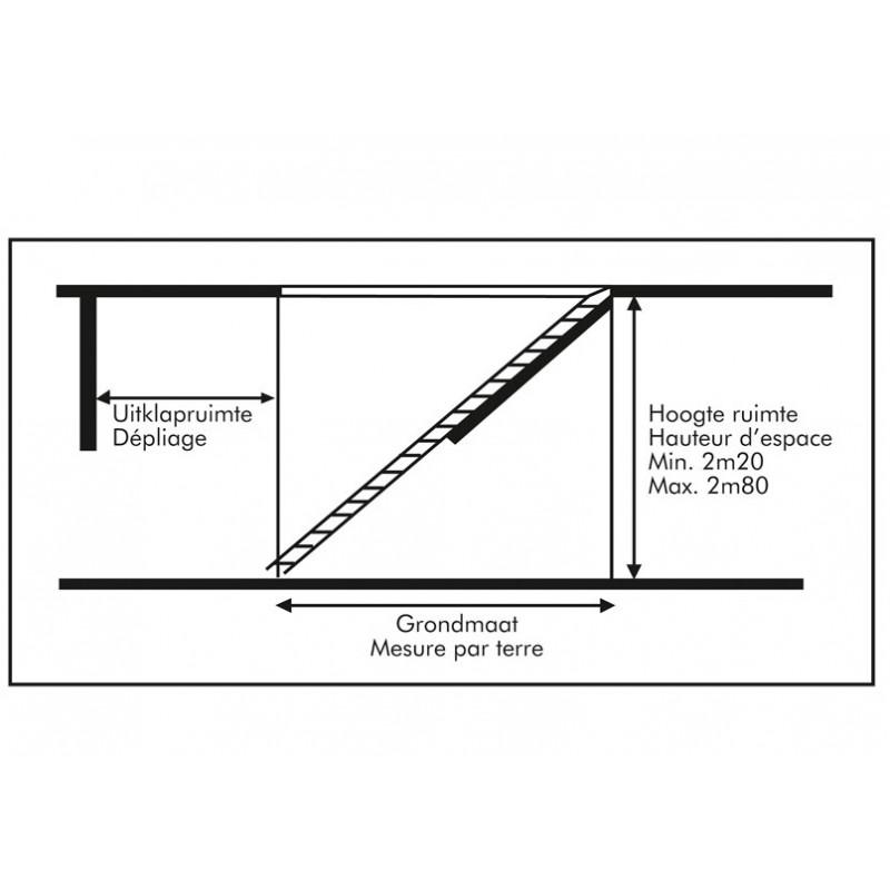 ... Escalier > Escalier escamotable isolé pour grenier trappe 140x70cm