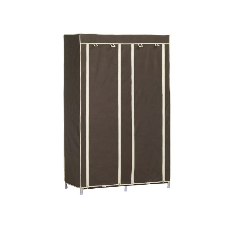 armoire penderie tissu double 170x110x50cm. Black Bedroom Furniture Sets. Home Design Ideas