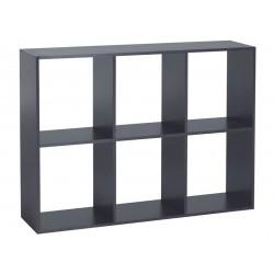Etagère 6 compartiments Wengé 84x117x29cm