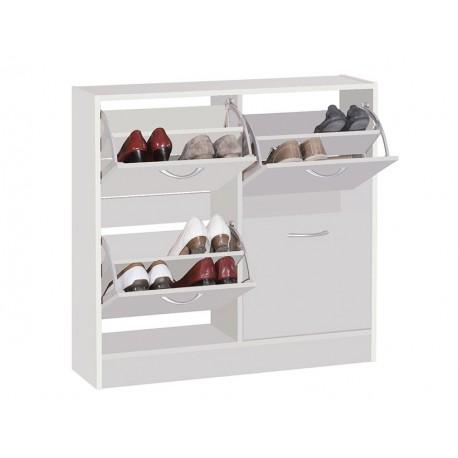 Armoire à chaussures 4 compartiments blanc