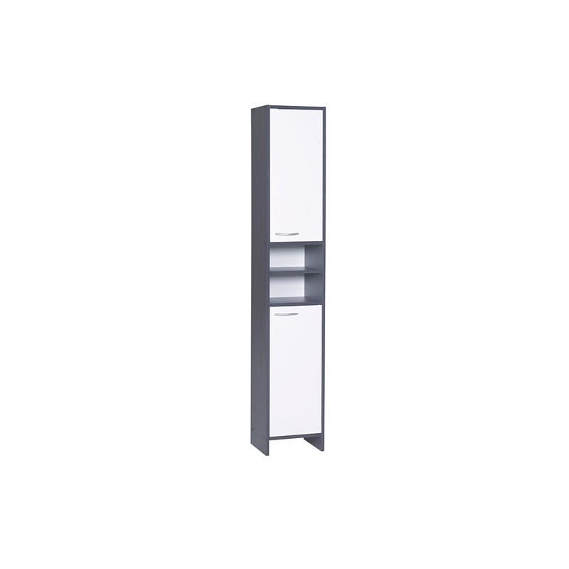 meuble colonne salle de bain anthracite blanc 177 5cm. Black Bedroom Furniture Sets. Home Design Ideas