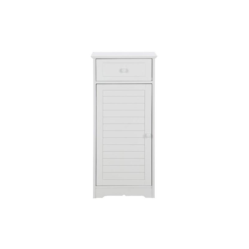 Petit meuble salle de bain blanc for Petit meuble rangement salle de bain