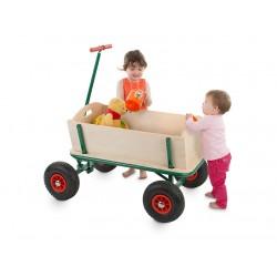 Voiturette charrette à bras Chariot en bois 90x60cm