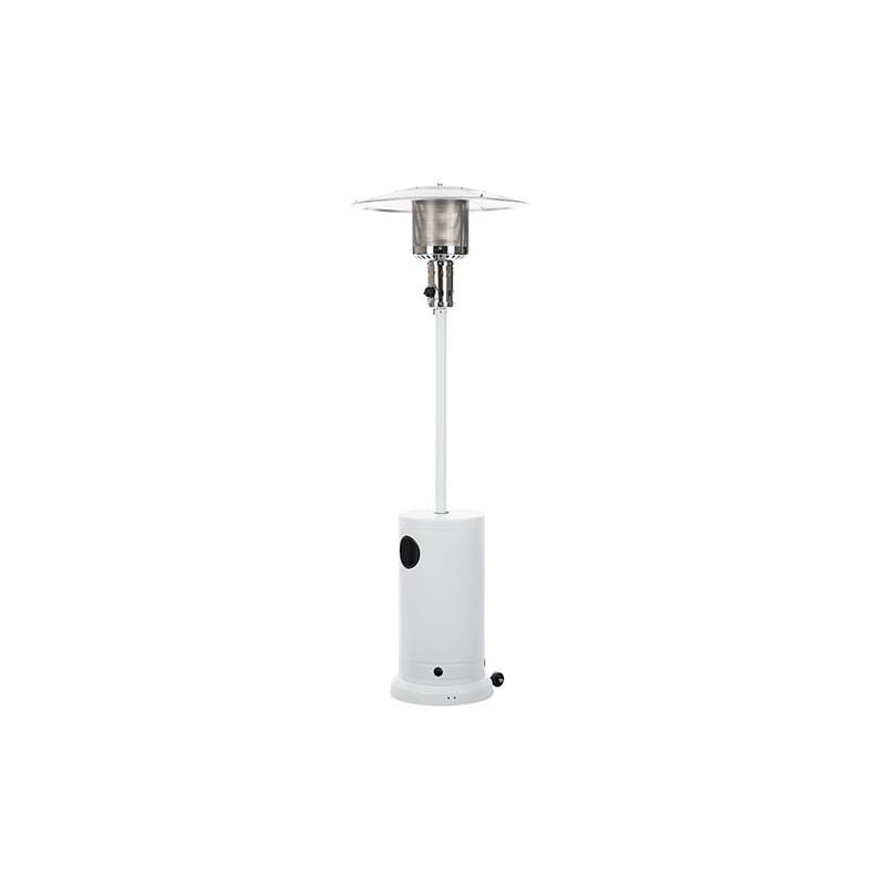 parasol chauffant de terrasse blanc avec roues. Black Bedroom Furniture Sets. Home Design Ideas