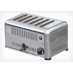 Grille pain 6 tranches inox