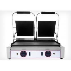 Grill panini double à plaques lisses - Beckers L 2