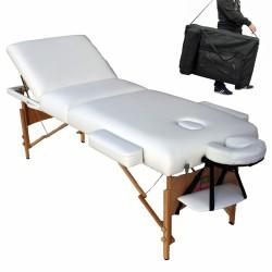 Table de massage cosmétique, lit de massage blanc - épaisseur de coussin 10cm