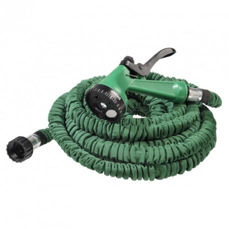 Tuyau hose arrosage extensible 15m avec pistolet 7 fontions