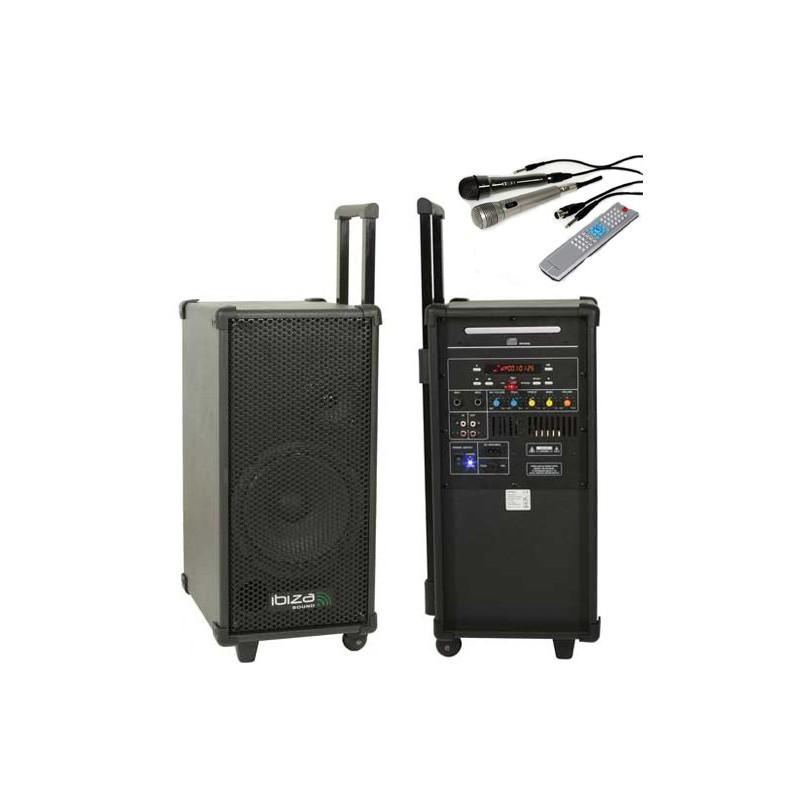 sono portable cd mp3 usb 160w achat sonorisation mobile pas cher. Black Bedroom Furniture Sets. Home Design Ideas